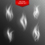 Naturalistic Smoke on Dark Transparent Background. Vector Illust Royalty Free Stock Photo