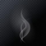 Naturalistic Smoke Isolated on Dark Background Stock Photo
