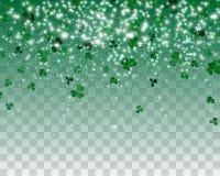 Naturalistischer bunter grüner Klee auf einem transparenten Hintergrund Auch im corel abgehobenen Betrag stock abbildung