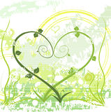 NaturalLove. Abstract vector image of two plants in love forming a heart Stock Image