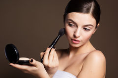 Naturally beautiful woman with flawless skin Royalty Free Stock Photo