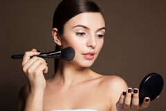 Naturally beautiful woman with flawless skin Royalty Free Stock Image