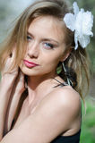 Naturally beautiful young blond woman in nature Royalty Free Stock Images