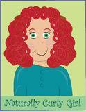 Naturally Curly Girl Stock Photography