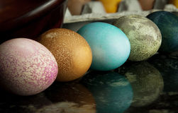 Naturally dyed easter eggs Royalty Free Stock Photo