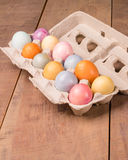 Naturally dyed Easter eggs for holiday Stock Image