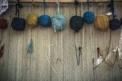 Naturally dyed yarn Stock Photography