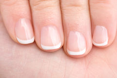 Naturally Manicured Fingernails Stock Photos