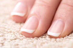 Naturally Manicured Fingernails Royalty Free Stock Photo