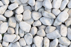 Naturally polished white rock pebbles Stock Photos