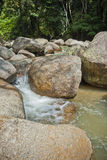 Naturally undeveloped river in Bentong, Pahang, Malaysia Royalty Free Stock Images