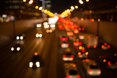 Naturaln blurred photo night city Stock Photography