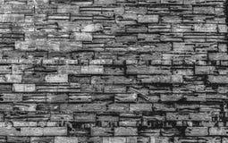 Naturalna ściana z cegieł z piękną teksturą w czarny i biały zdjęcia royalty free