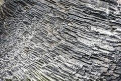 Naturalna bazalt ściana w skałach, Iceland zdjęcie stock