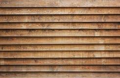 Naturalna brown drewniana lath linia układa deseniowego tekstury tło Obraz Royalty Free
