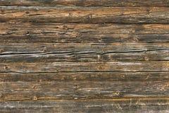 Naturalna brown stajni drewna ściana Ścienny tekstury tła wzór Obrazy Royalty Free