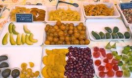 Naturalna candied owoc robić od owoc na miasto rynku Zdjęcia Royalty Free