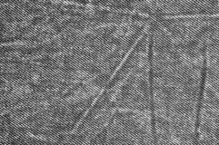 Naturalna Czarna Bieliźniana Drelichowa Bawełniana chino cajgów tekstura, Szczegółowa Horyzontalna Textured tło wzoru kopii przes Obraz Royalty Free