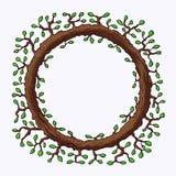 Naturalna Drewniana rama royalty ilustracja