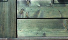 Naturalna drewniana zielona tło tekstura Zdjęcie Stock
