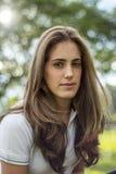 Naturalna dziewczyna z długie włosy Fotografia Royalty Free