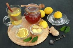 Naturalna grypa i Zimny remedium fotografia royalty free