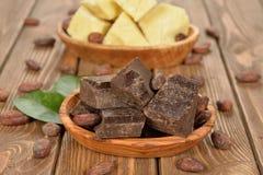 Naturalna kakao masa Fotografia Stock
