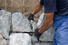 naturalna kamienna ściana Zdjęcie Royalty Free