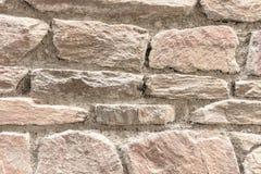 Naturalna kamienna ściana robić kamienna tekstura dla wewnętrznego projekta Fotografia Royalty Free