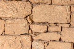 Naturalna kamienna ściana robić kamienna tekstura dla wewnętrznego projekta Obrazy Stock