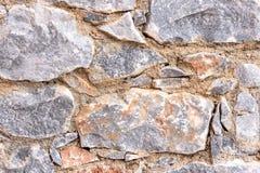 Naturalna kamienna ściana robić kamienna tekstura dla wewnętrznego projekta Obraz Royalty Free