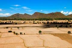 Naturalna krajobraz ziemi góra widzii widok obraz royalty free