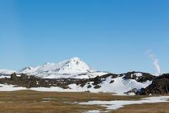 Naturalna krajobrazowa zima i góra Fotografia Stock
