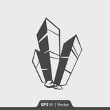 Naturalna kryształ ikona dla sieci i wiszącej ozdoby Obraz Stock