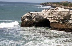 Naturalna mostu stanu plaża Santa Cruz zdjęcie stock