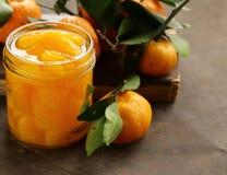 Naturalna organicznie konserwować mandarynka (pomarańcze) Zdjęcie Stock