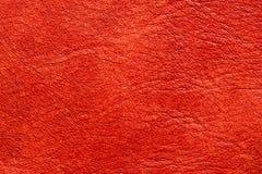 Naturalna pomarańczowa rzemienna tekstura Fotografia Stock