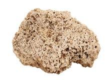 Naturalna próbka trawertyn skała na białym tle Zdjęcia Royalty Free