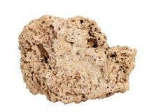 Naturalna próbka trawertyn skała na białym tle Obraz Royalty Free