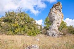 Naturalna rzeźbiąca skała Zdjęcie Royalty Free