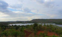 Naturalna sceneria, kagdi podnosi up jezioro, Banswara, Rajasthan indu Obrazy Stock
