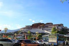 Naturalna sceneria Tybeta?ski plateau obrazy royalty free