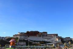 Naturalna sceneria Tybeta?ski plateau zdjęcie stock