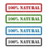 100% naturalna ustalona pieczątka odizolowywająca na tle ilustracja wektor