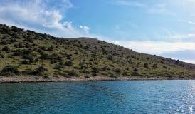 Naturalna wyspa w kornati parku narodowym w Chorwacja zdjęcia royalty free