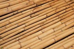 Naturalne brown bambus sterty Zdjęcie Stock