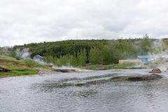 Naturalne gorące wiosny w Fludir, Iceland zdjęcie royalty free