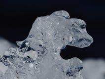 Naturalne lodowe formacje wzdłuż Ottawa rzeki obrazy royalty free