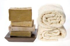 naturalne mydło spa obrazy stock