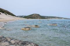 naturalne na plaży Obrazy Stock